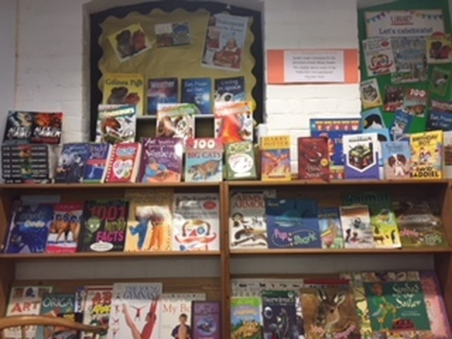 Some of the Library books purchased with funds raised by the Children's Council!