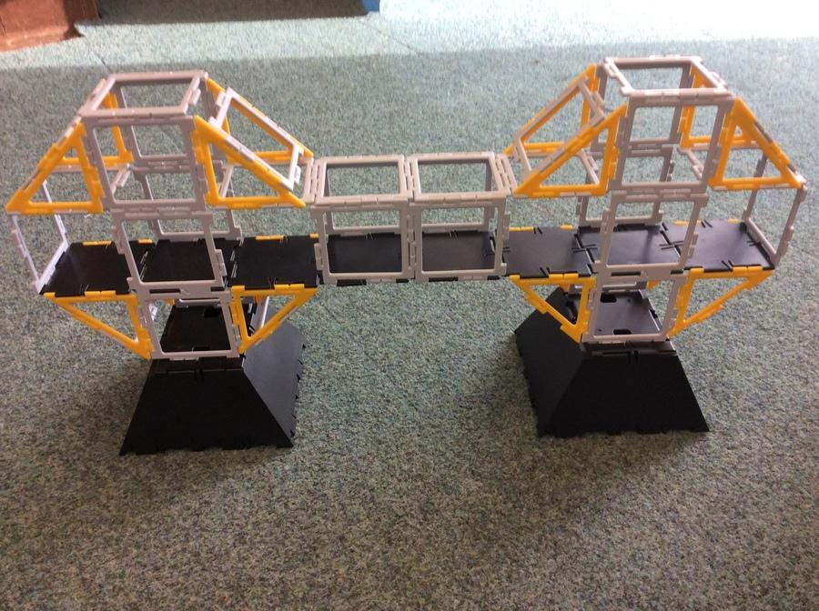 A cantilever bridge