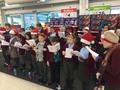 Entertaining Christmas<p>shoppers at ASDA.</p>