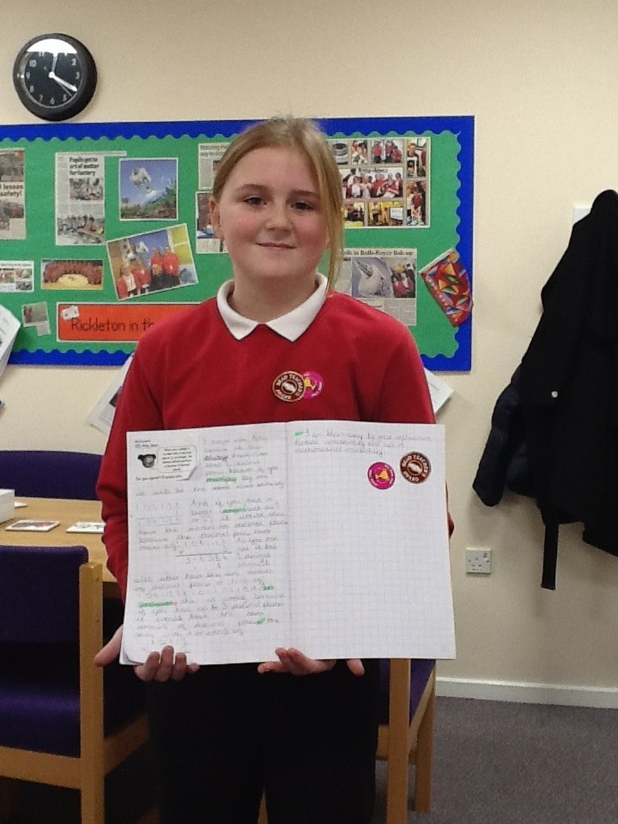 Amy in Class 13 has been working really hard during her maths lessons.  Amy is able to multiply an integer by a number with two decimal places.  She used her knowledge to solve some very complex problems.