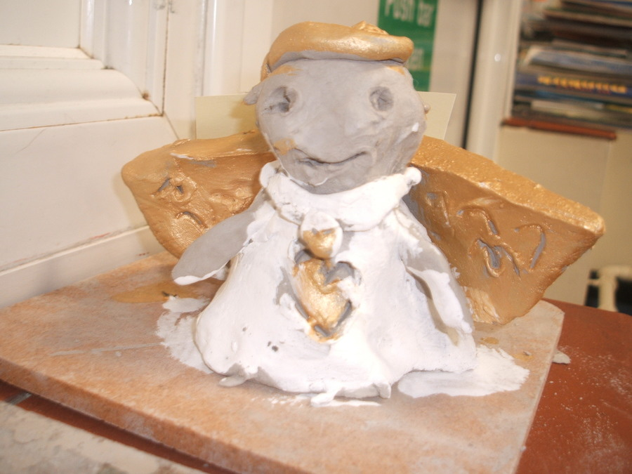 A clay angel inspired by the interior of St Paul's