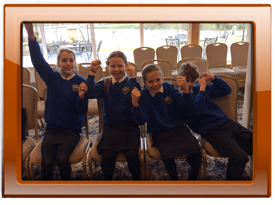 The P7  cheering squad...