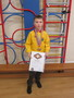 <p>Shay received his cub scout certificate for </p><p>obtaining lots of badges</p>