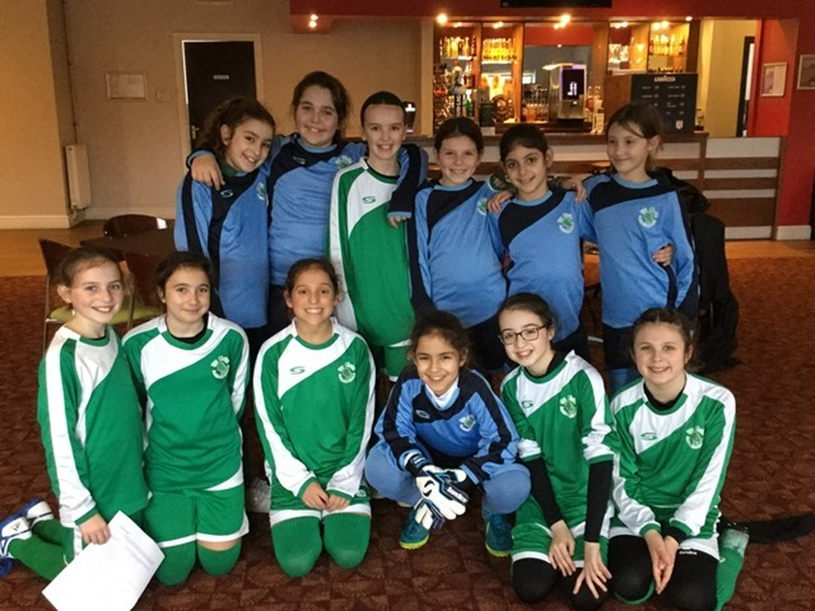 Year 5 and 6 Girls' Football January 2018