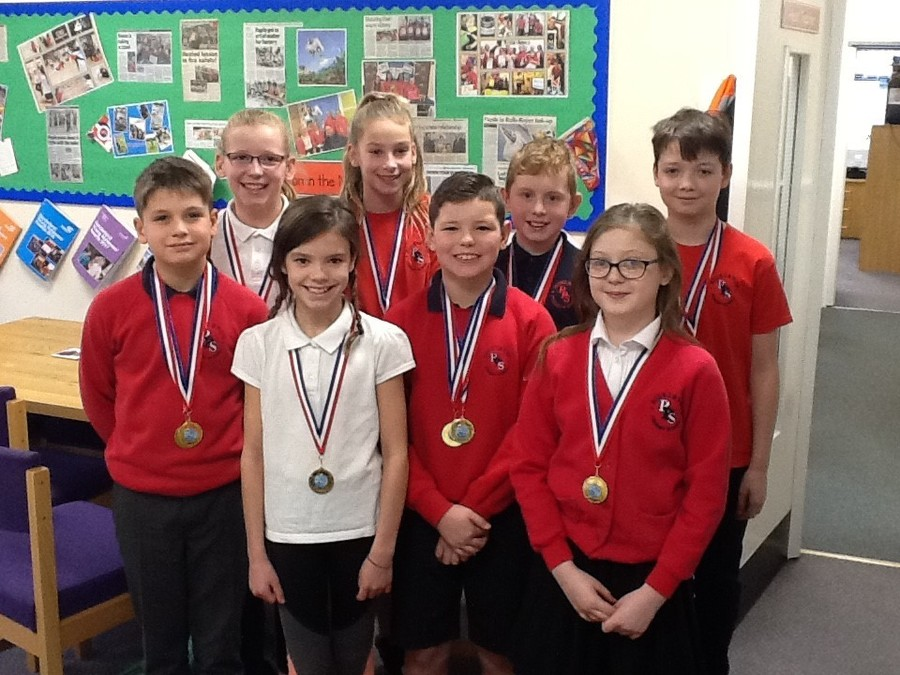 Grace, Joe, Abigail, Eve, Katie, Matthew, Innes and Sam were hugely successful at the  Sunderland swimming gala.  Out of 22 schools who were competing they came first! The children have to complete a medley and free-style relay.  Well done everyone!