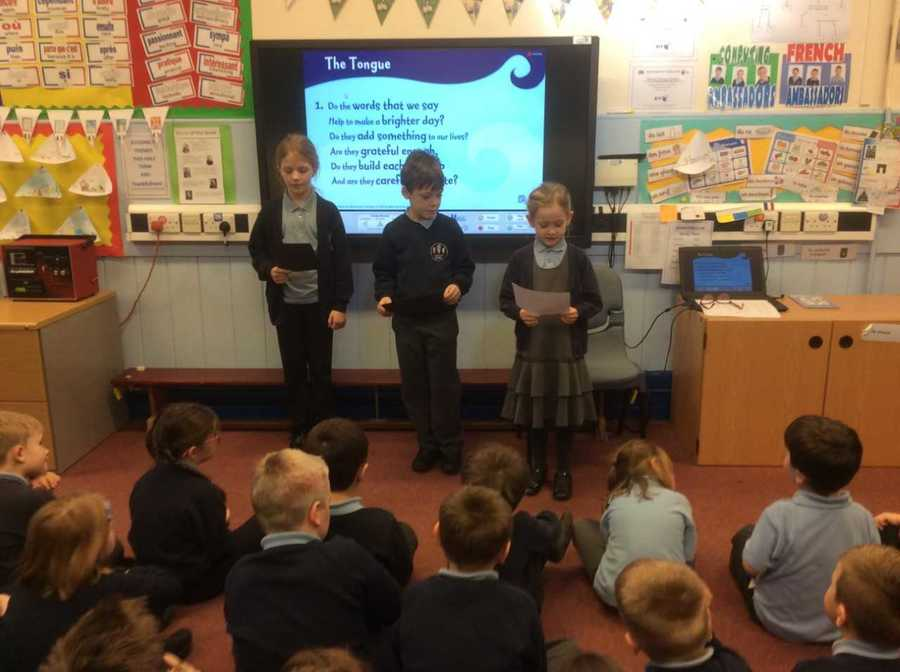 Worship group wrote  and read their own prayers on thankfulness in our school assembly today 25/01/18