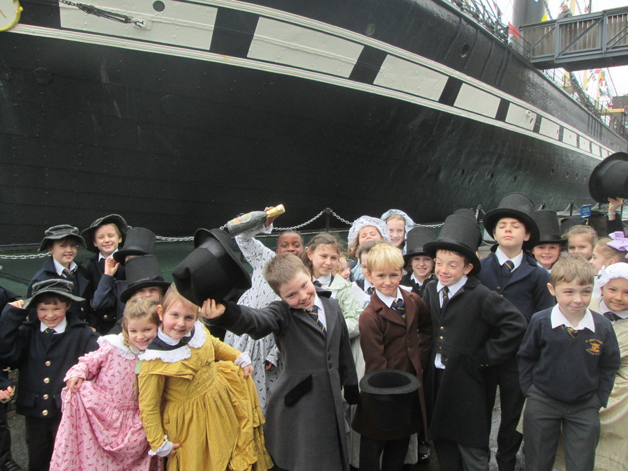 The children loved their visit to the SS Great Britain. Here, they are launching the ship after learning all about how it was built and playing with the different tools that were used.