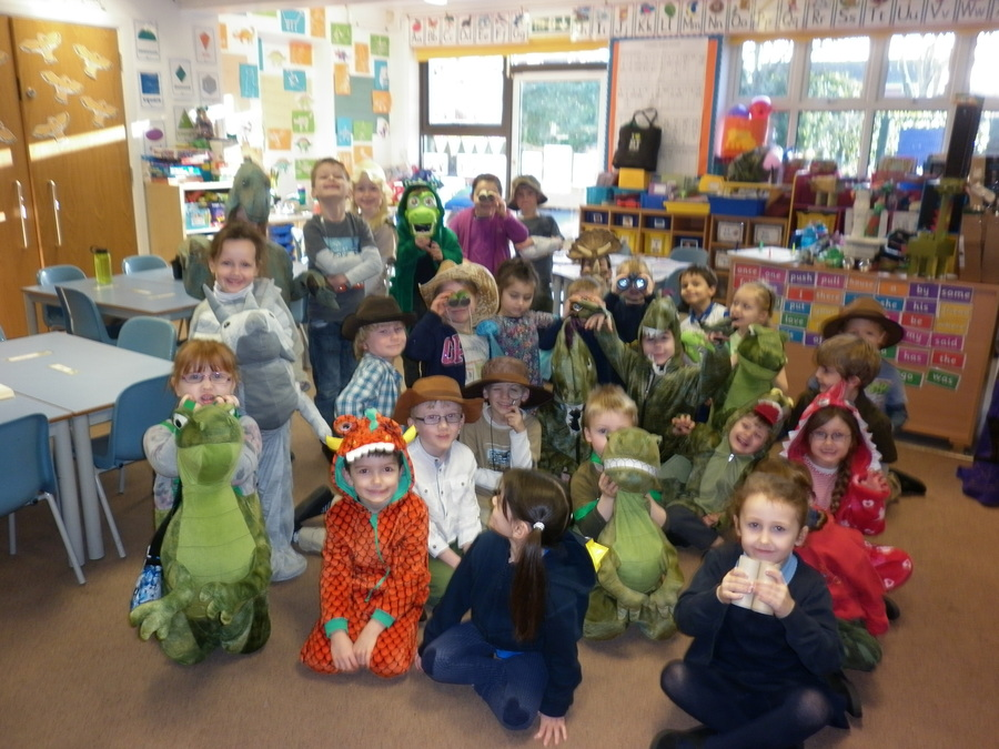 We had fun dressing up as Explorers and Dinosaurs
