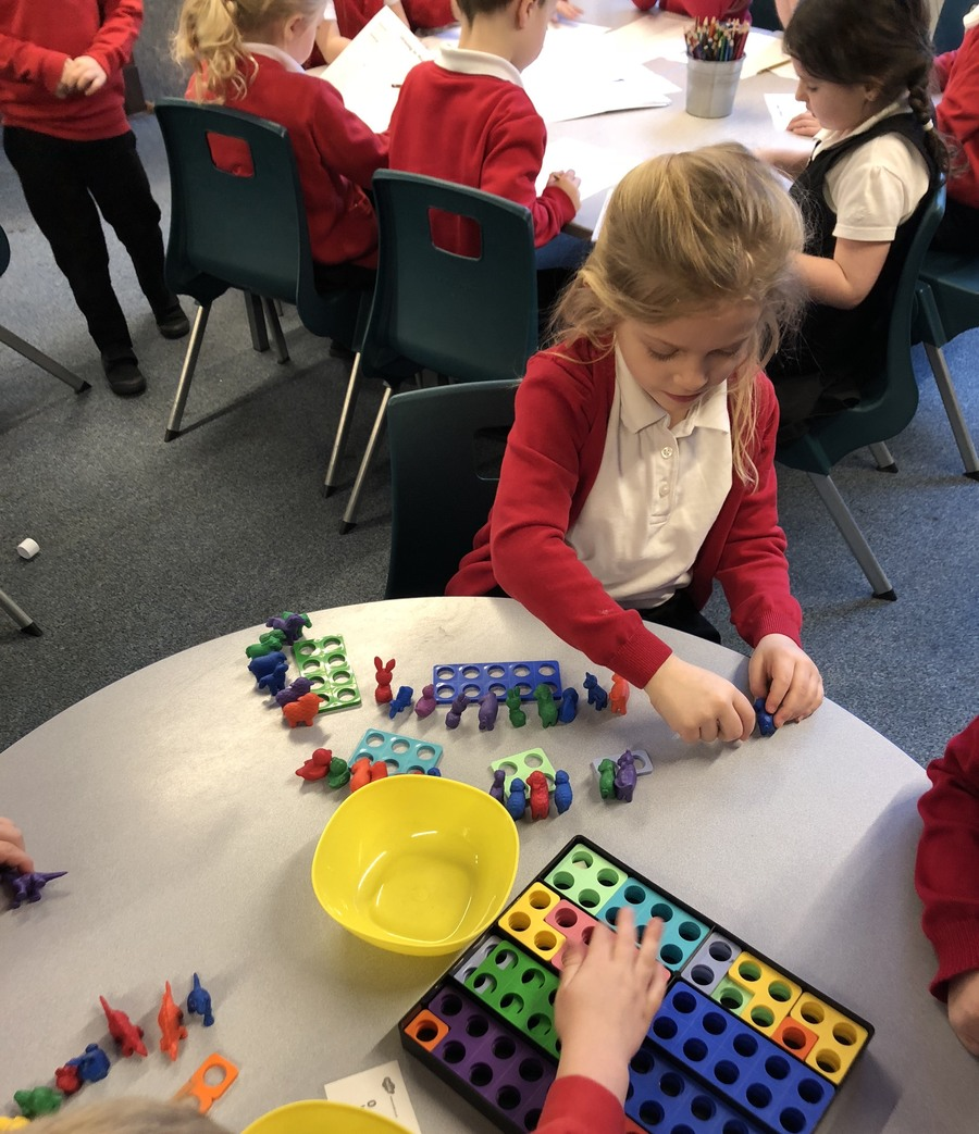 Counting in twos in maths.
