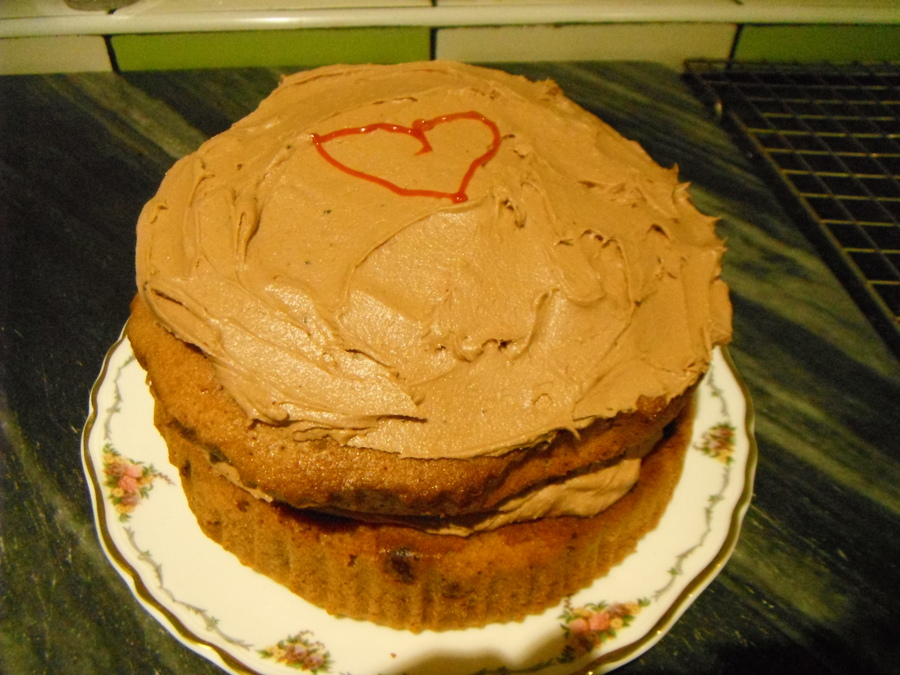 Here is the cake I made on day 1 to show my family that I love them. - Mrs Weller