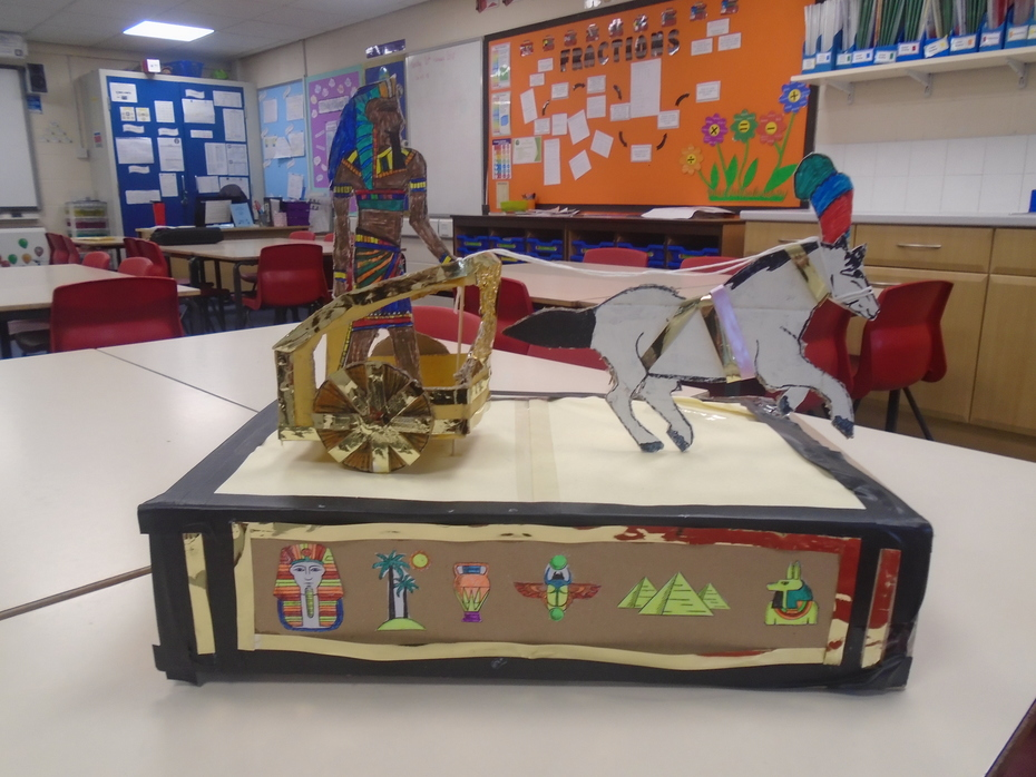 A wonderful Egyptian chariot, made by one of the children in 5SC.