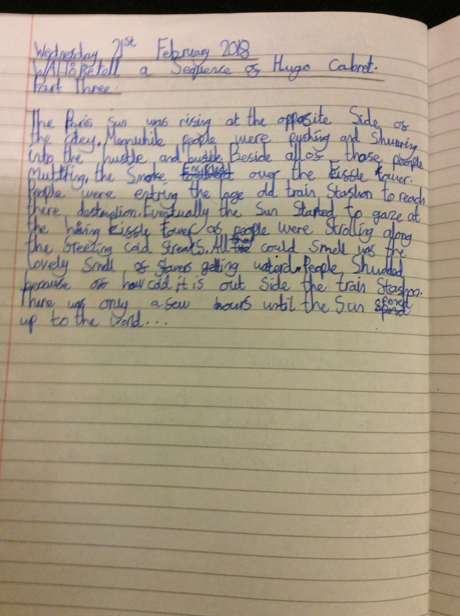 """Ava.M (6P) """"I am proud because I have used great description."""""""