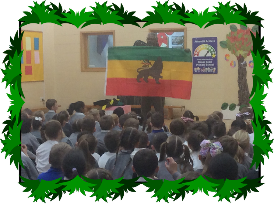 Levi performed some of his poems at our assembly.