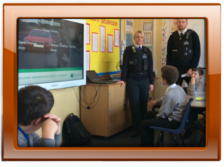 Carla and Aaron, our local community police officers, came into all classes to talk to us about road safety