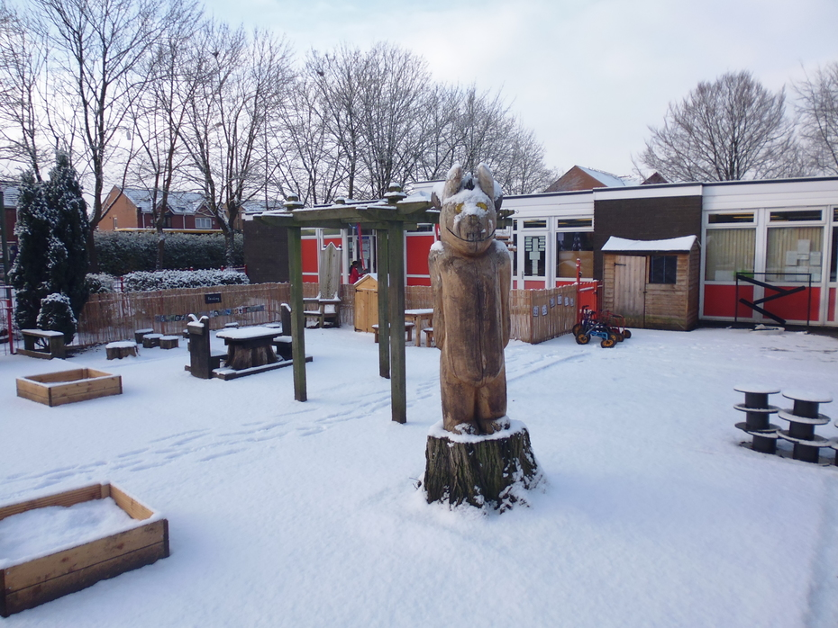 Reception Playground in Snow