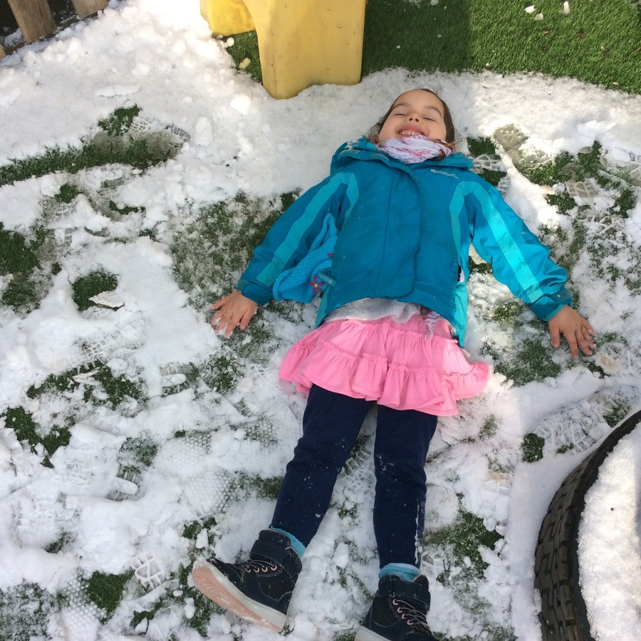 We had so much fun  making snow angels