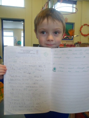 Superb writing in Year 1