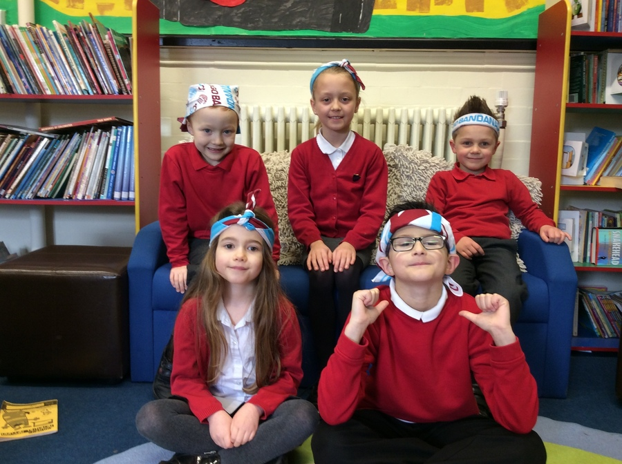 We wore bandanas to raise money for people with brain tumours.