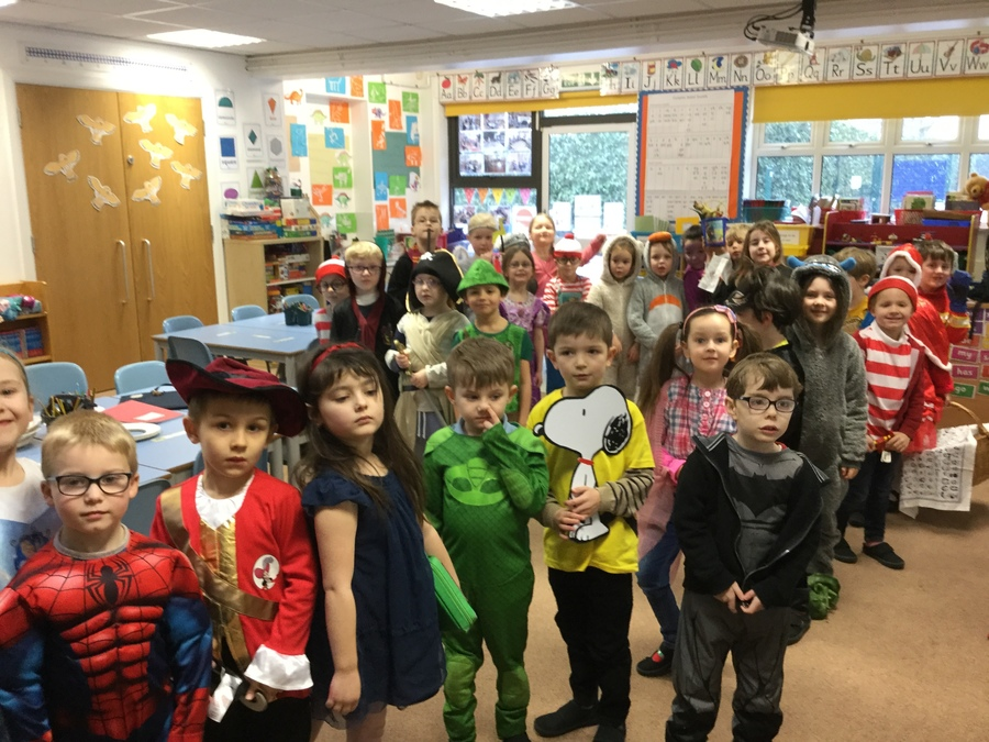 Year 1 looking fabulous on World Book Day