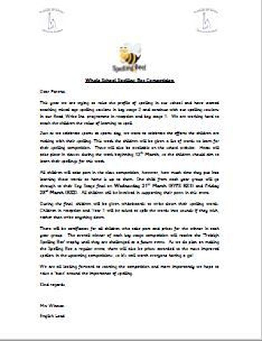 Spelling Bee Letter