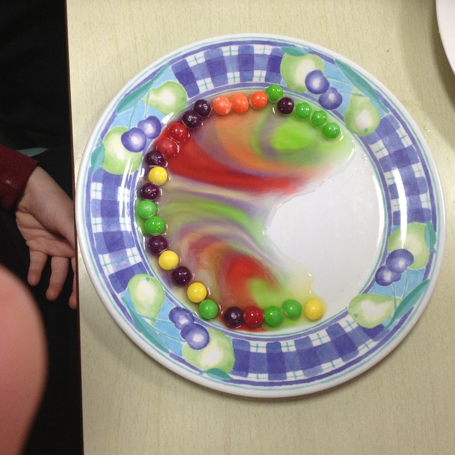 Adding water to Skittles!