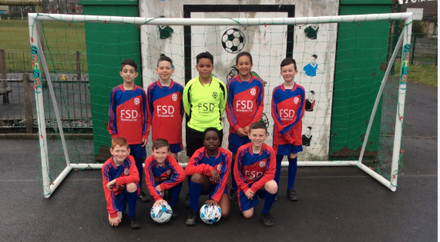 Our new football kit and nets thanks to the fantastic work of the PTA and FSD Ltd for sponsorship!