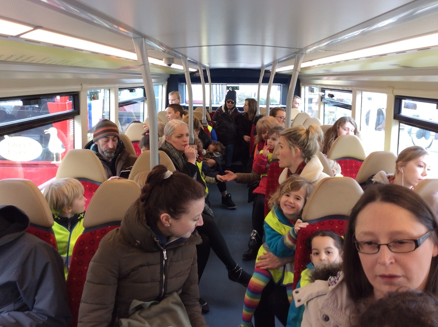 On the number 1 bus to Mrs'Armitages' house