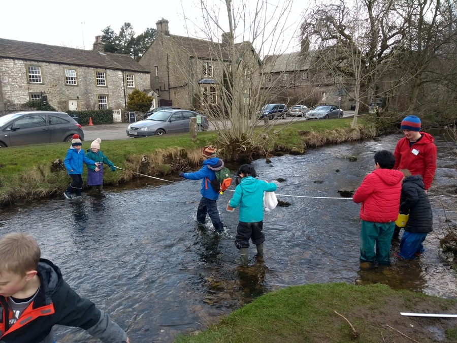 Malham trip - measuring rivers