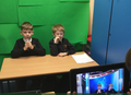 Green screen for recording our writing