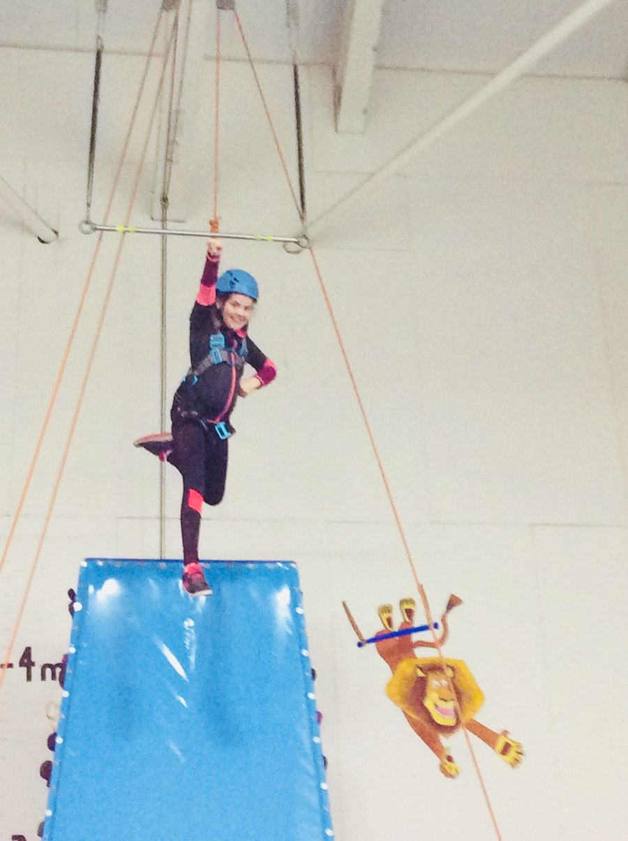 Emma loving the trapeze!