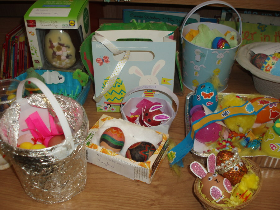 Easter egg competition entries