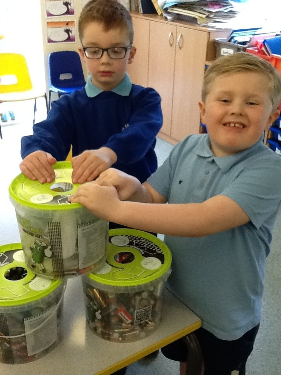We have been busy collecting batteries!