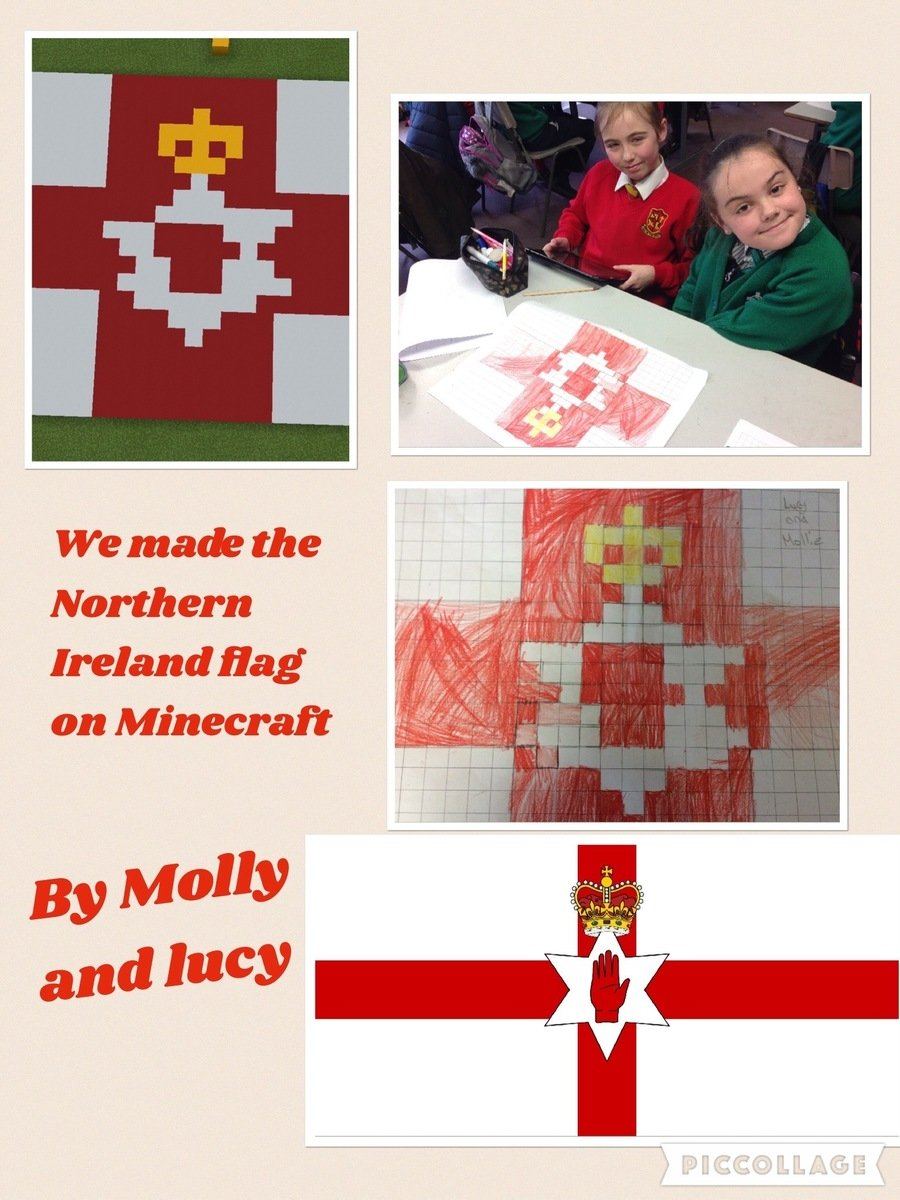 Creating flags from our Commonwealth countries in Minecraft