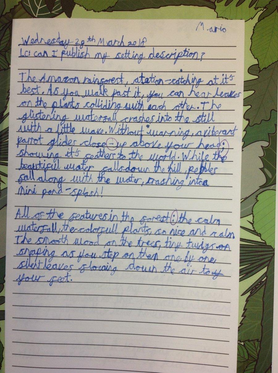 creative writing setting examples