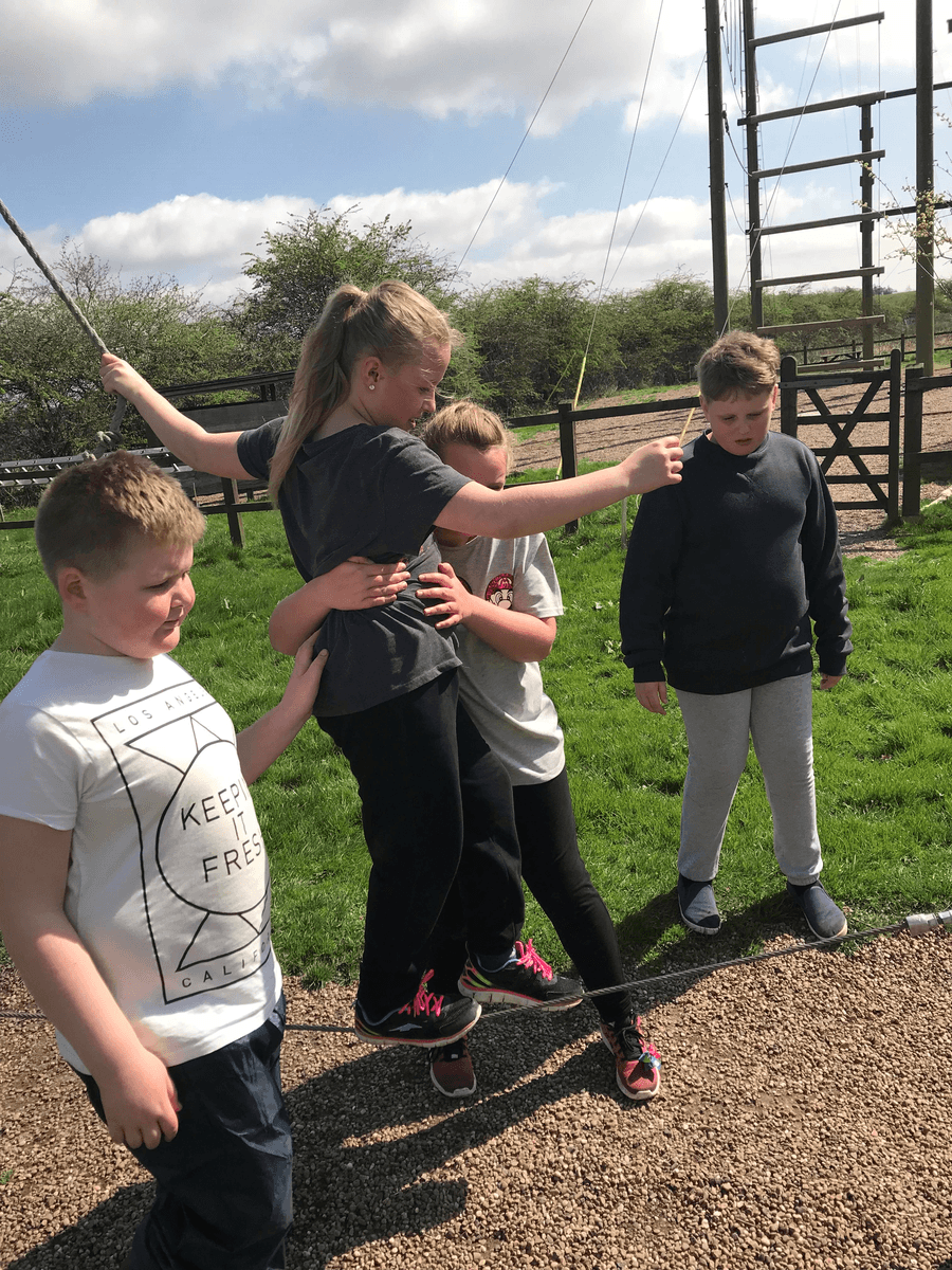 Low ropes- good teamwork!