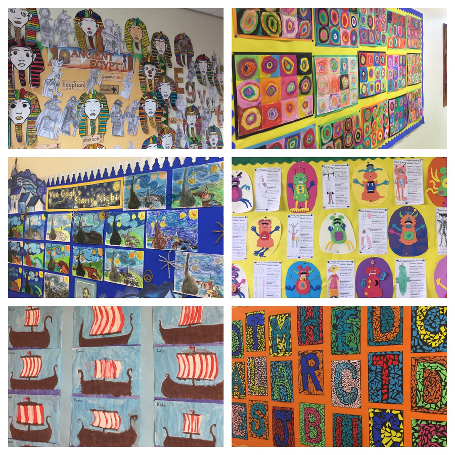 Our pupils are a talented bunch! Some of the artwork on display in Key Stage 2