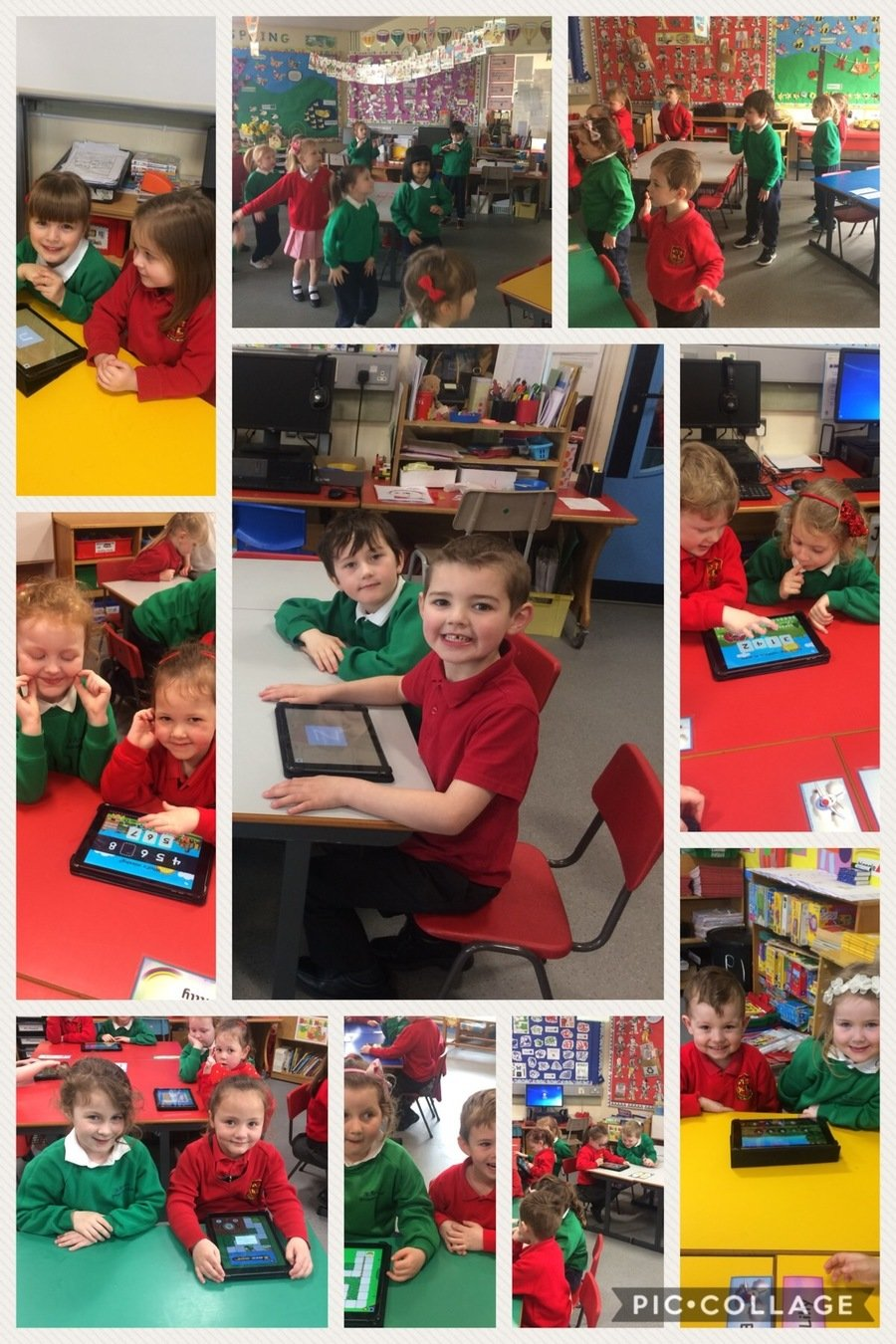 We loved working together on the iPads to develop our Numeracy and ICT skills