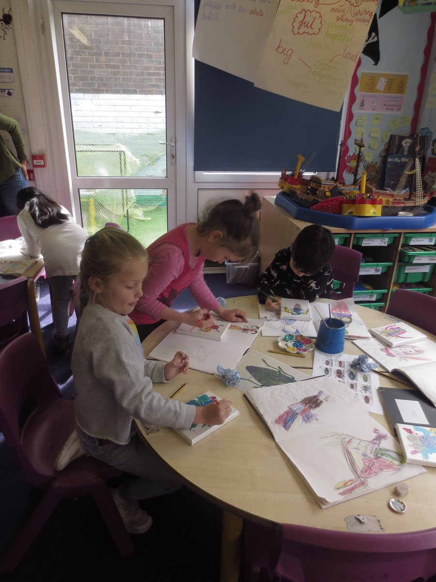 Children paint their own beetles