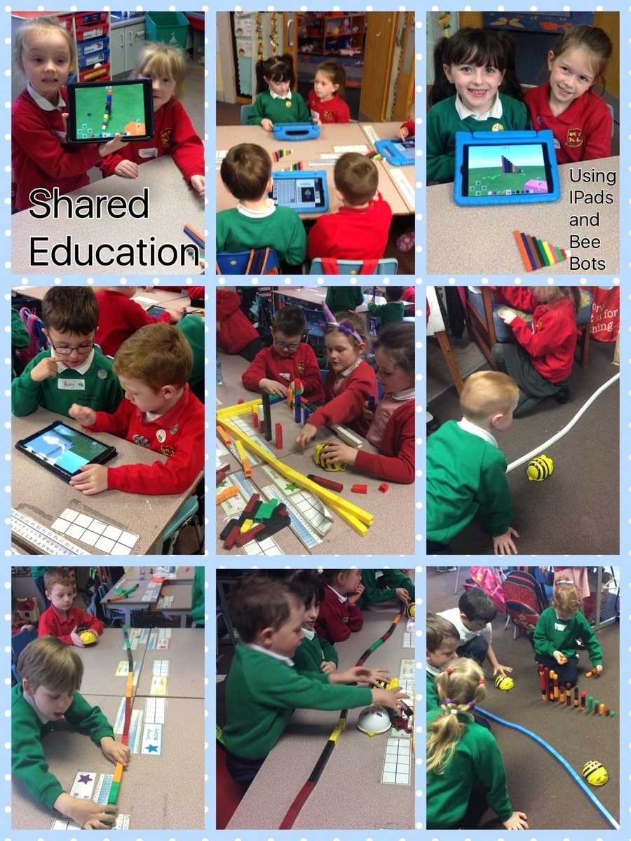 We loved using Beebot and the iPads to develop our ICT and Maths skills