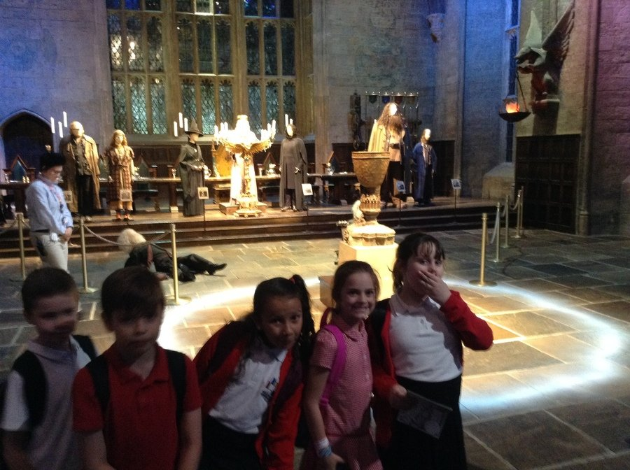 Oooh! The Goblet of Fire, in the Great Hall!
