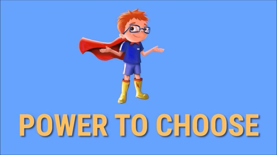 This is Danny. Danny is training Year 1 to become real-life superheroes. We are going to be learning about the most important super power of all: 'THE POWER TO CHOOSE'. We have learnt that with this power, we can change our day by changing our choices. This week Alexandra T has been using her power to choose very wisely. Go Alexandra!