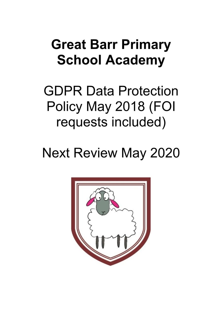 Click on the school badge to view our GDPR policy