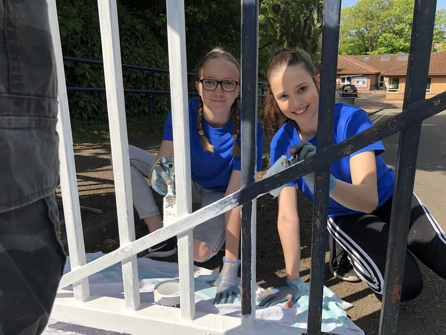 Above and below - Christ Church volunteers in the community