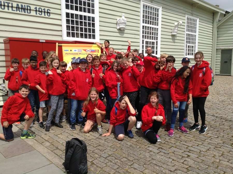 Year 6 at Portsmouth Historic Naval Base 4th June