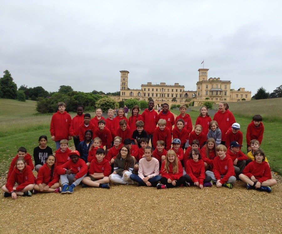 The gang at Osborne House 5th June
