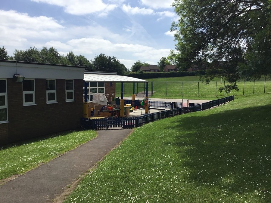 Nursery outdoor area leading to KS1 playground
