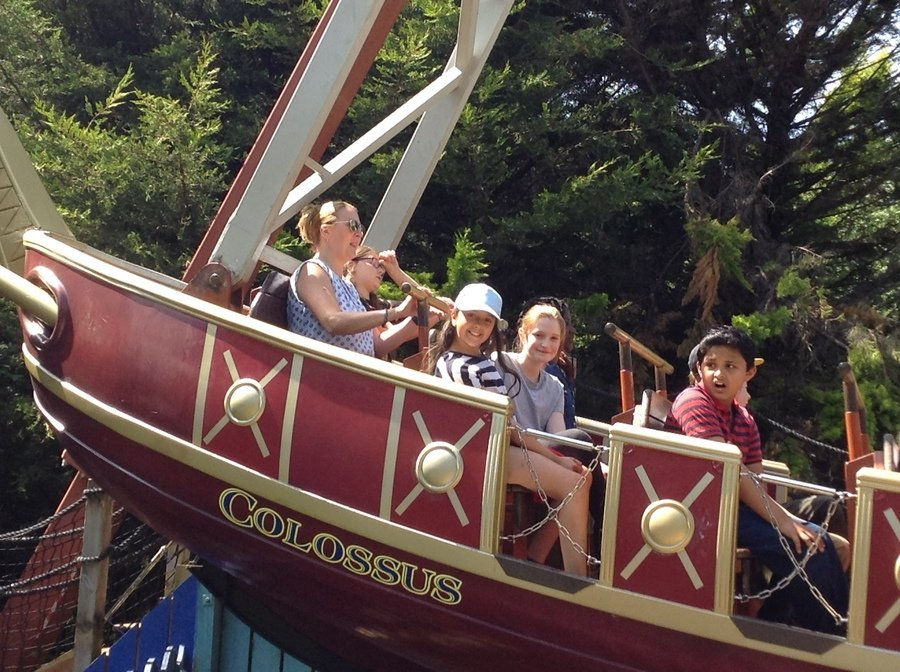 Mrs R relaxing on the pirate ship