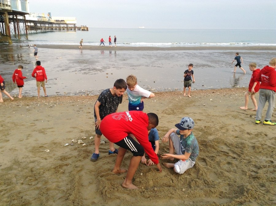 The start of the sandcastle competition