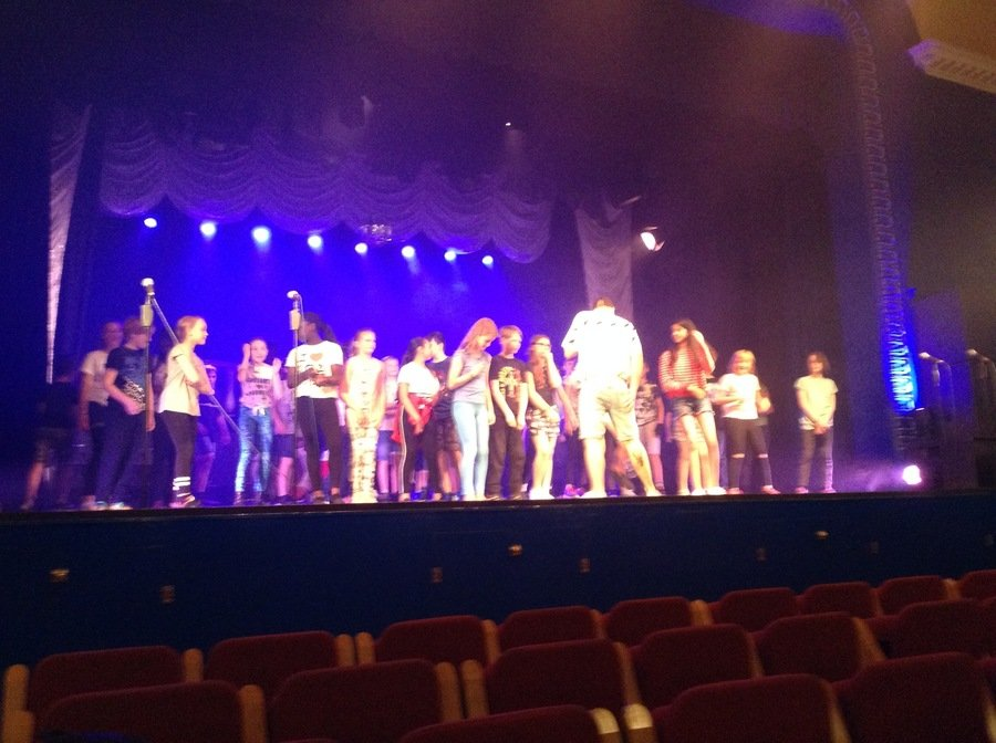 Rehearsing at the Shanklin Theatre