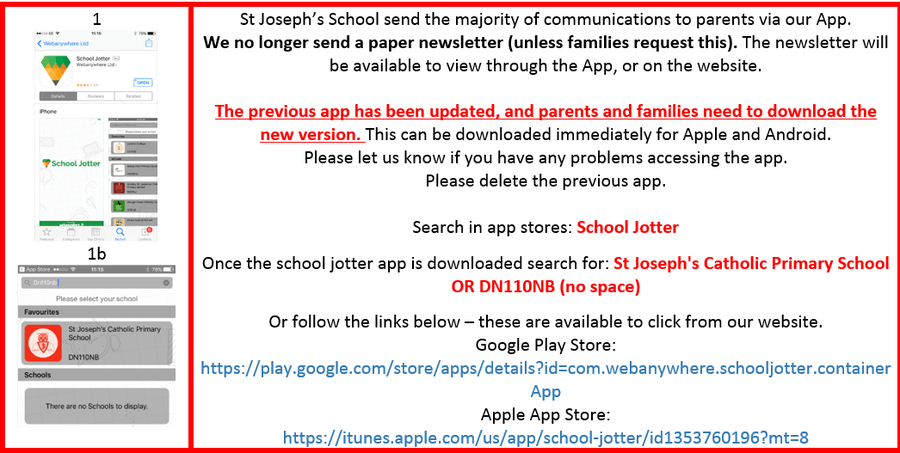 St Joseph's School A Catholic Voluntary Academy - App